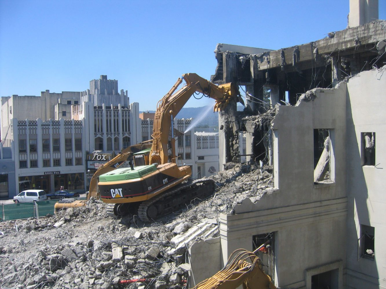 Demolition of Fiscal building in Redwood City