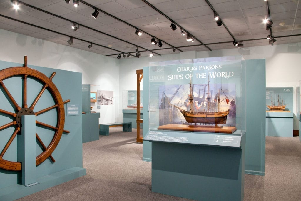 Ships of the World exhibit at the San Mateo County History Museum