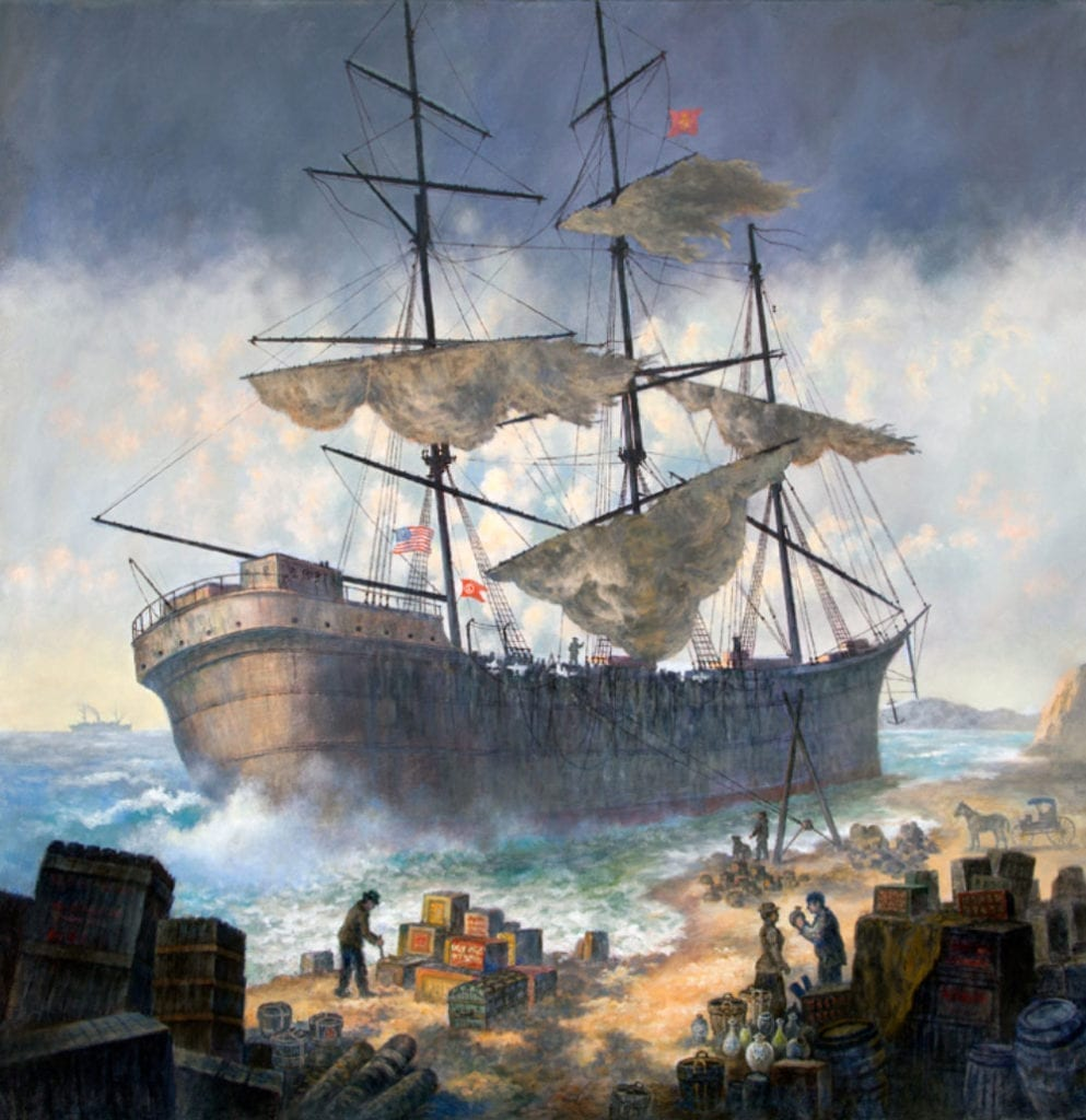 ships-of-the-world-painting-sails-beach