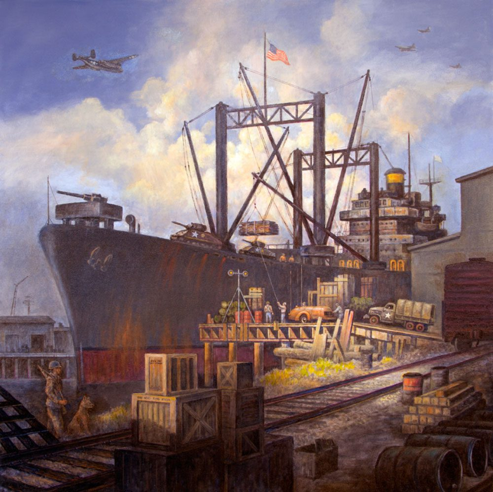 ships-of-the-world-painting-warship-loading