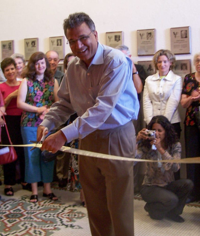 Umang Gupta at opening ceremony for Land of Opportunity exhibit at the San Mateo County History Museum