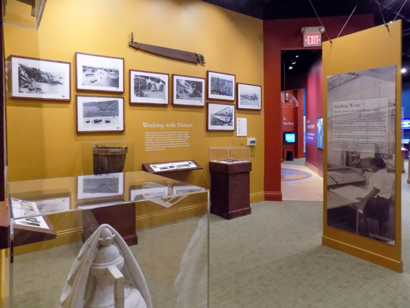 Land of Opportunity exhibit at the San Mateo County History Museum