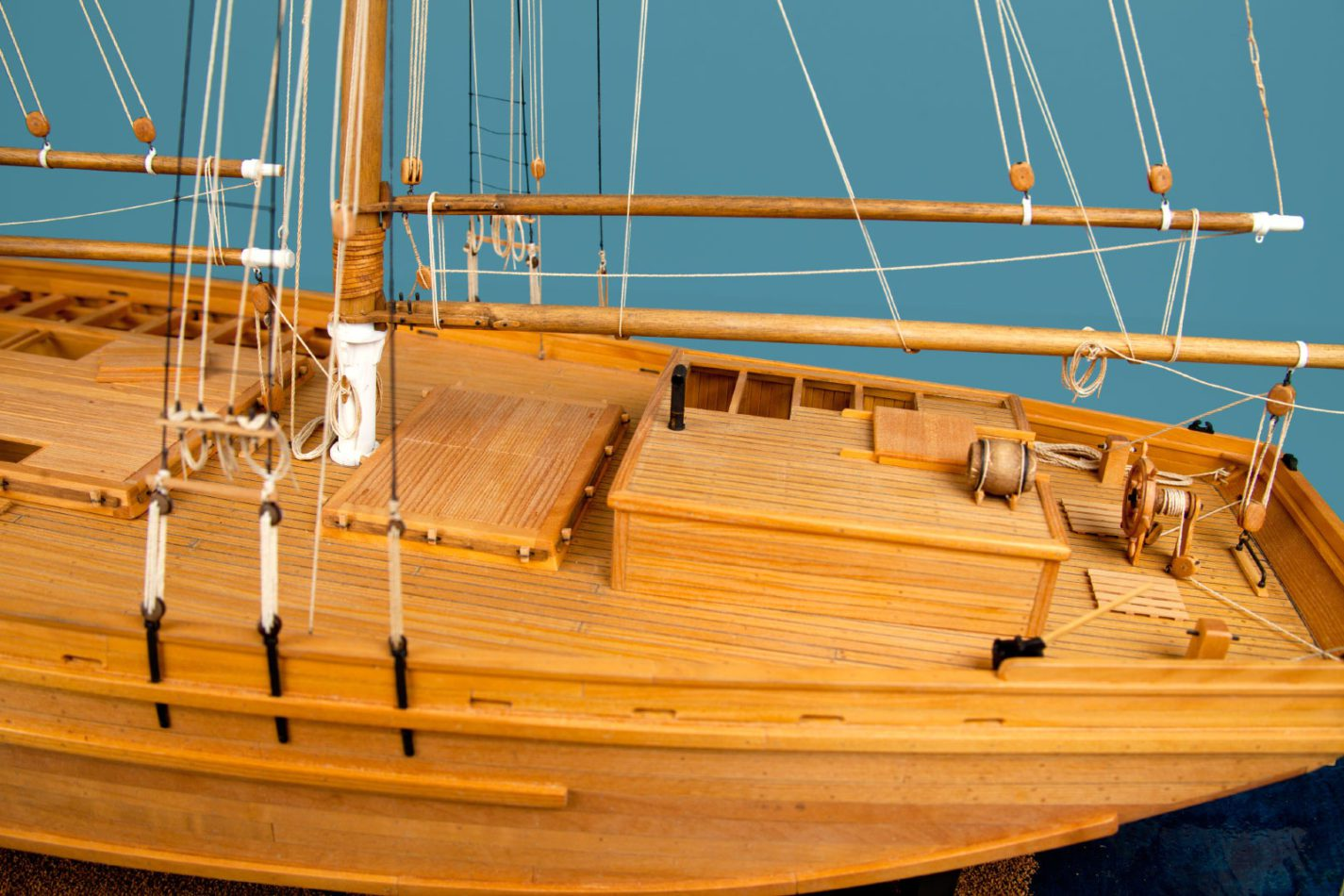Regenia S model ship at the Ships of the World exhibit at San Mateo County History Museum
