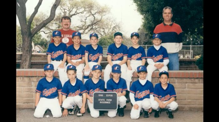 Photo of the 1993 youth baseball Expos team