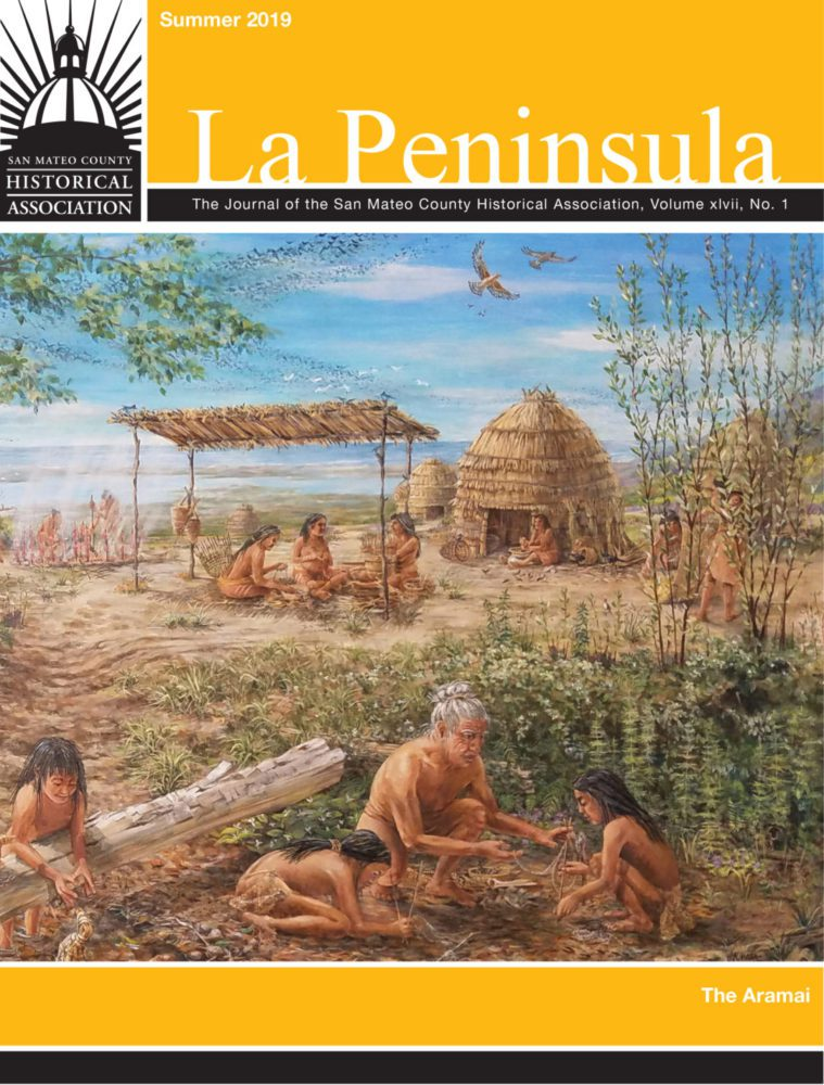 Cover of the the La Peninsula issue on the Aramai featuring a detail of an artists rendering of Pruristac village