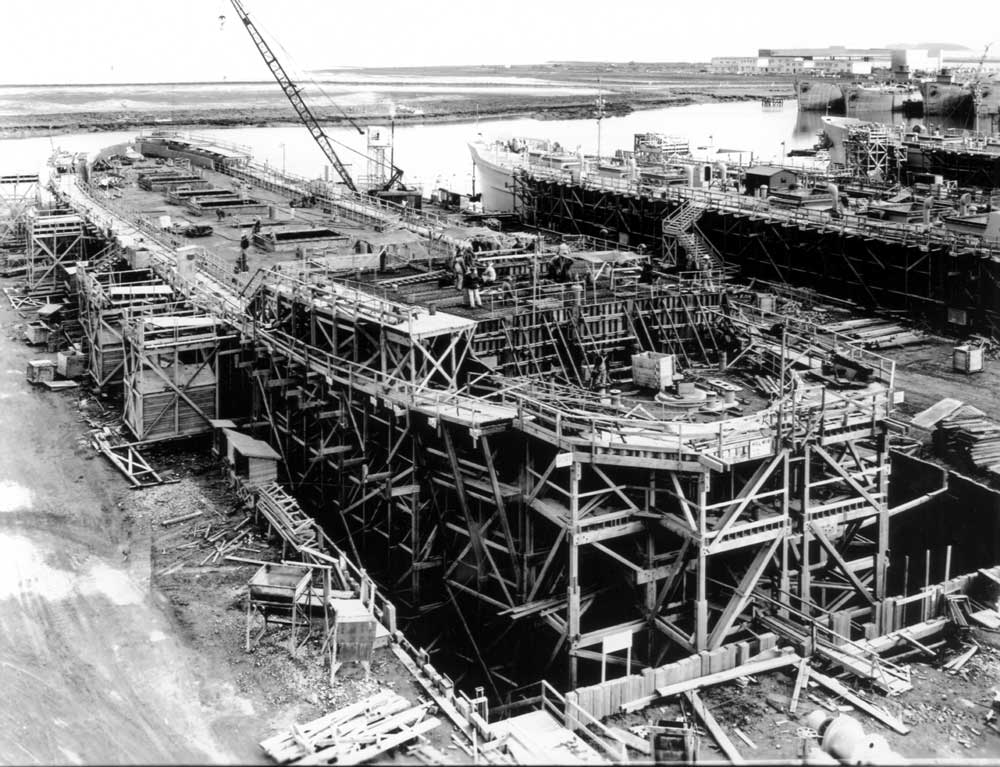 Archival of the Belair Shipyard Superstructure being formed in San Mateo Countuy