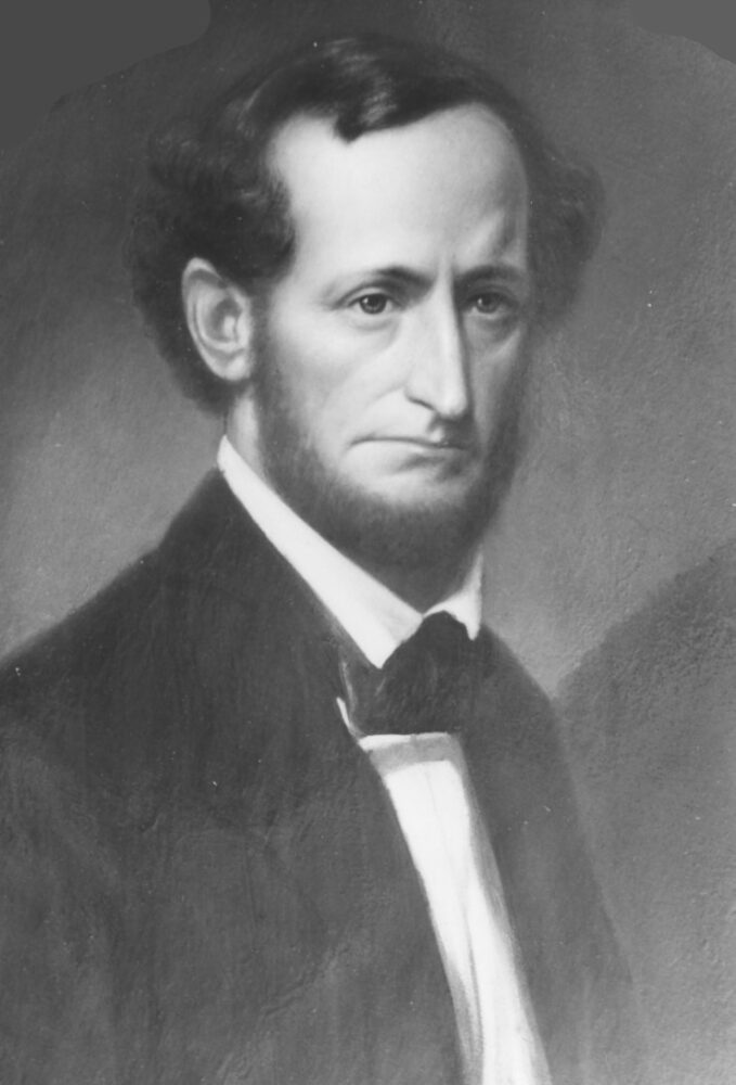 Black and white photo of a white man named Horace Hawes.