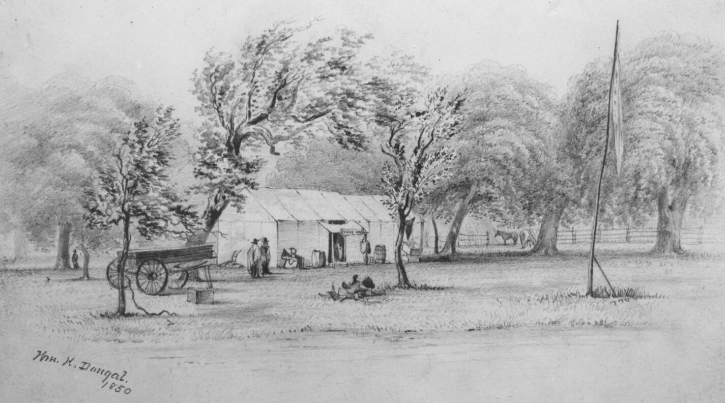 Sketch of Angelo Ranch drawn in 1850