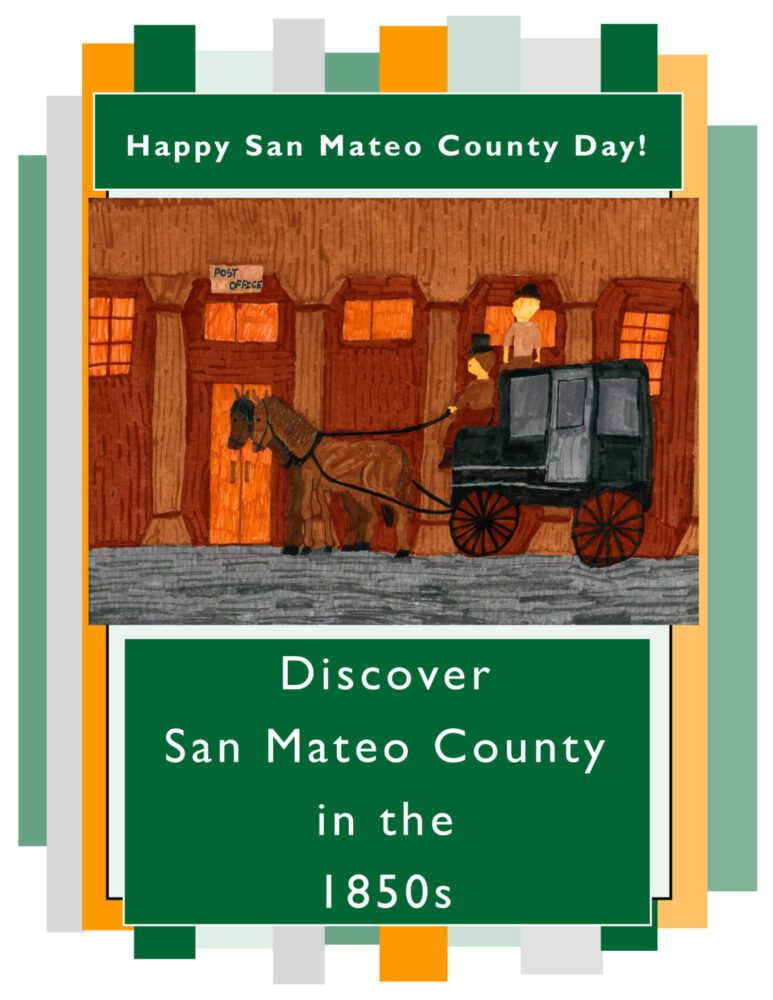 Activity book cover with a child's drawing of a stagecoach