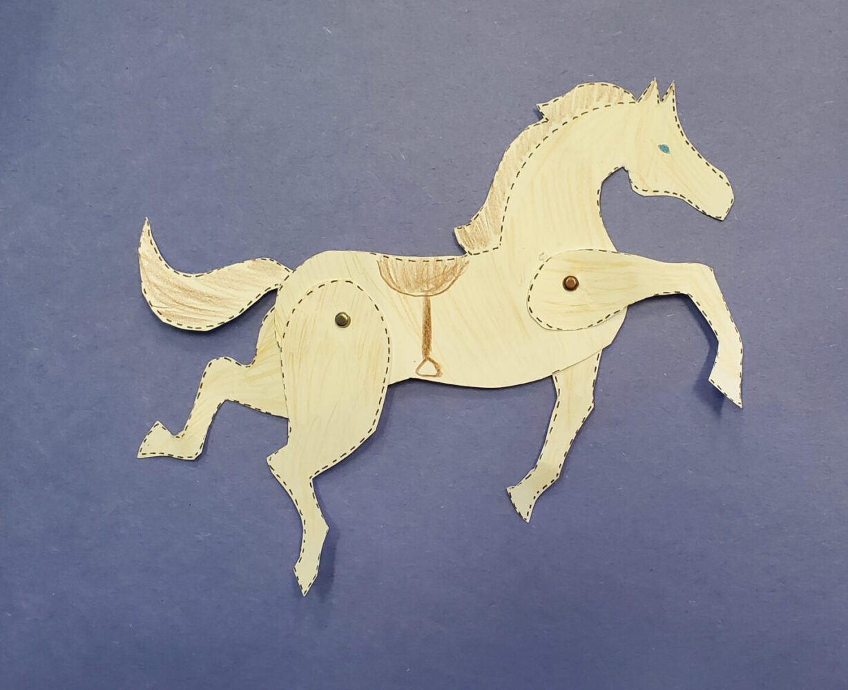 Paper Moveable Horse