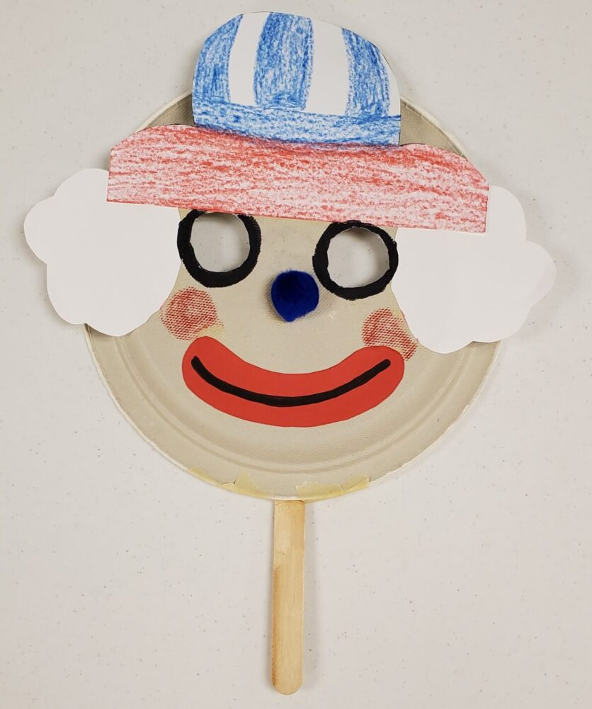 Image of a clown mask craft.