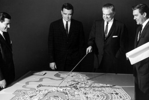 Foster Family with map of Foster City in 1961